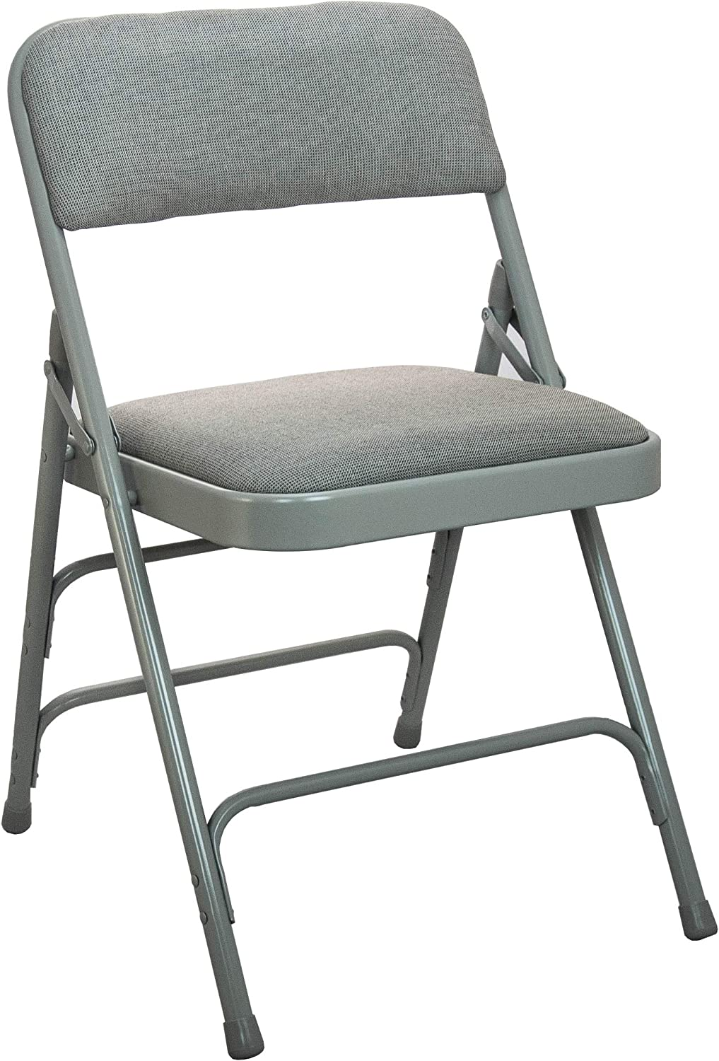 EMMA + OLIVER free shipping Grey Padded Metal Folding High quality Chair - 1-in Fabric