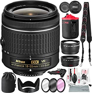 Nikon AF-P DX NIKKOR 18-55mm f/3.5-5.6G VR Lens for Nikon DSLR Camera with Wide-Angle & Telephoto Lens, Stable Tripod, Xpi...