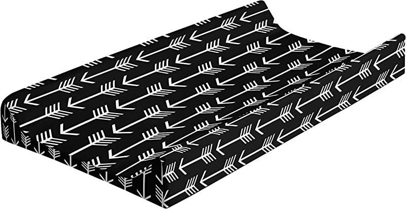 Changing Pad Cover Boy Girl Baby Changing Table Covers 100 Cotton Woodland Nursery Decor By JLIKA Black White Arrows