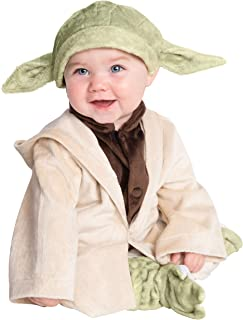 Rubie's unisex baby Star Wars Classic Yoda Deluxe Plush Infant and Toddler Costumes, As Shown, 6-12 Months US