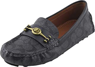 bf9ab3155 Coach Women's Signature Crosby Driver Turn-Lock Flats Loafers Shoes 7 B US  Women in