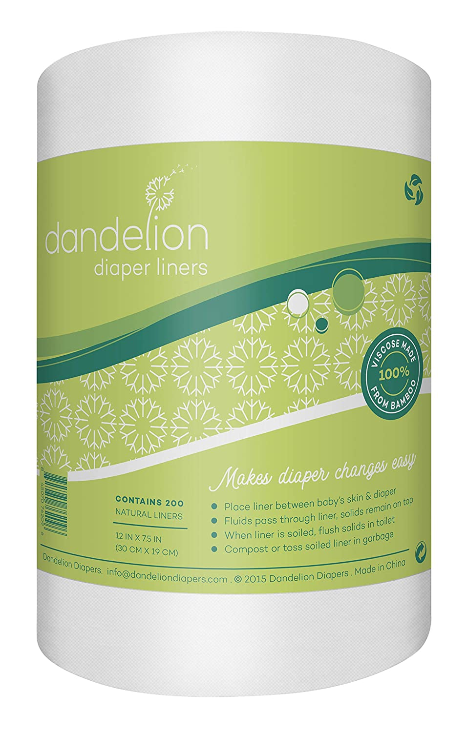 Dandelion Diapers Biodegradable and Super popular specialty store Outlet ☆ Free Shipping Lin Natural Flushable Diaper