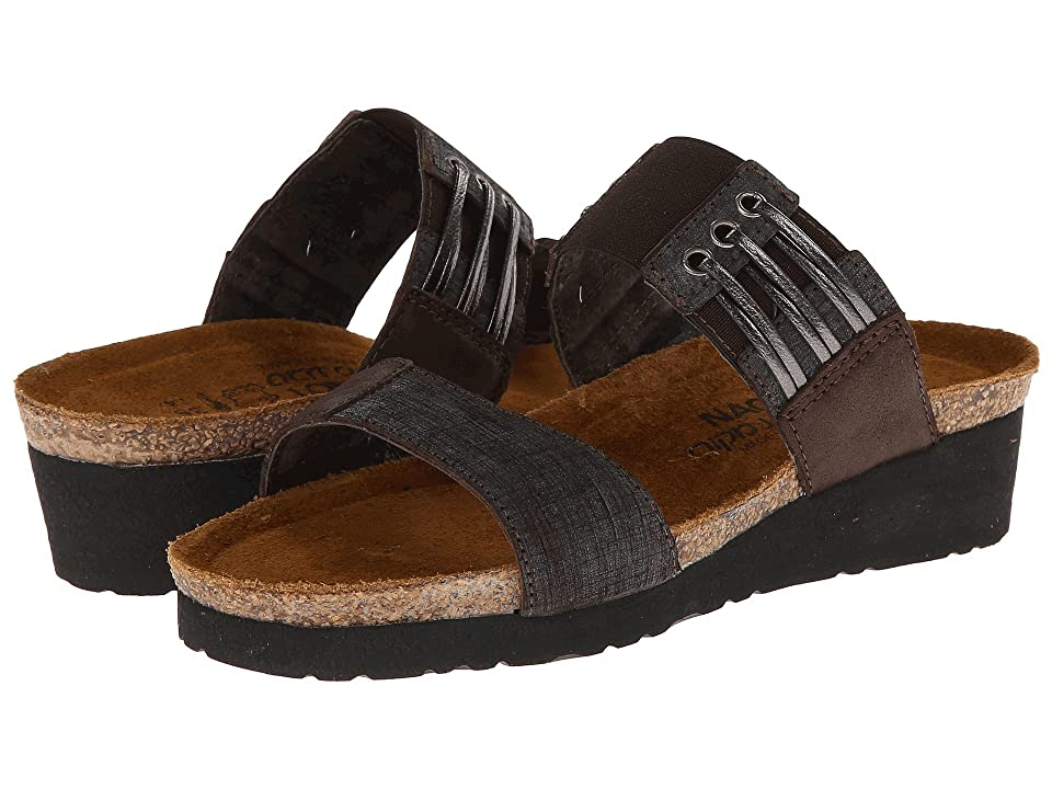 Naot Lena (Mine Brown Leather/Brown Shimmer Nubuck) Women
