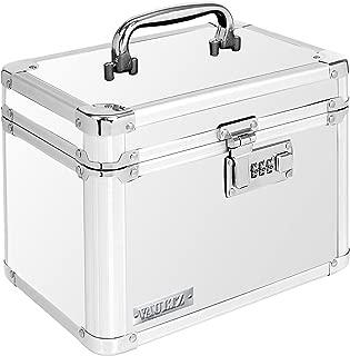 Vaultz Combination Lock Box, 7.75 x 7.25 x 10 Inches, White (VZ00171)