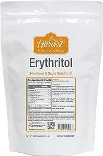 Erythritol Powder - Sweetener & Sugar Substitute - 1 Kilogram - Harvest Naturals