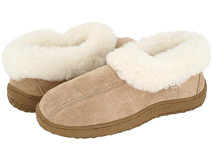 Old Friend  Juliet (Chestnut W/Natural Fleece) Womens Slippers