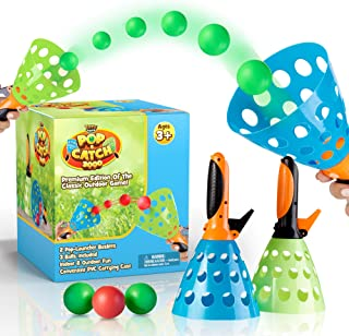 YoYa Toys Pop and Catch Launcher Basket with 3 Balls - for Girls, Boys, Adults, Indoors and Outdoors - Promote Fine Motor ...