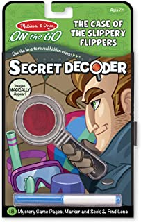 Melissa & Doug On the Go Secret Decoder Activity Book - The Case of the Slippery Flippers