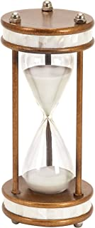 Deco 79 Metal/Glass 60 Minute Hourglass, 13 by 6-Inch
