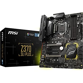 MSI PRO Series Intel 8th Gen LGA 1151 M.2 DVI HDMI USB 3.1 Gigabit LAN CFX SLI ATX Motherboard (Z370 SLI PLUS)