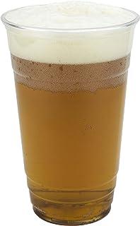 SIGNATURE PACKAGING Vasos de plástico transparentes - Vasos desechables - Jarra de cerveza para festivales, barbacoas y juegos de fútbol, Grande, 660 ml (pinta completa) - 50 piezas