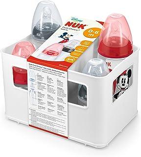 NUK First Choice+ Starter Bottle Set, Baby Bottle Set, Disney Mickey Mouse