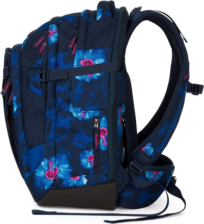 Satch match Schulrucksack - ergonomisch, erweiterbar auf 35 Liter, extra Fronttasche - Waikiki Blue - Dunkelblau