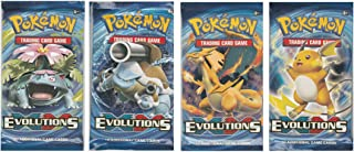 Pokemon Trading Card Game: XY - Evolutions Sealed Booster Pack x 4