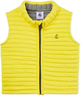 Petit Bateau Baby Boy's Sleeveless Quilted Jacket, Yellow