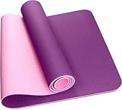 Skyland Unisex Adult TPE Yoga Mat Em-9304-p - Colors May Vary, L 61 X W 13 X 13 cm