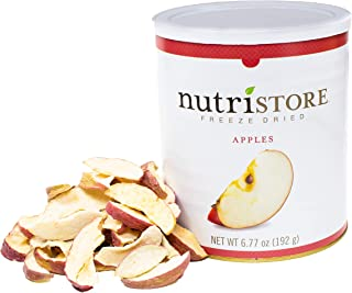 Nutristore Freeze Dried Fuji Apples | 45 Servings | 6.77 oz | 25 Year Shelf Life | Amazing Taste | Healthy Snack On-The-Go...