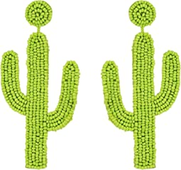 "4"" Saguaro Cactus Seed Bead Post Earrings"