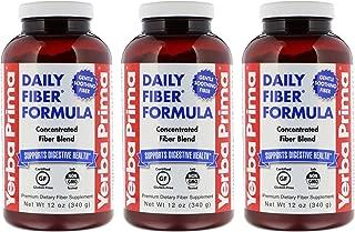 Yerba Prima Daily Fiber Formula Powder, 12 Ounce (Pack of 3)