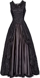 Women Steampunk Gothic Victorian Long Maxi Dresses Witch Cosplay