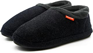 Archline 2017 Model Mens Closed Toe Comfort Orthotic Slippers - Size: 11 US or 44 EUR - Color: Charcoal Marl