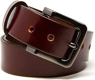 chestnut leather belt