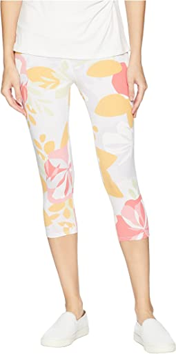 Fresh Blossom Oceanside Capri Leggings