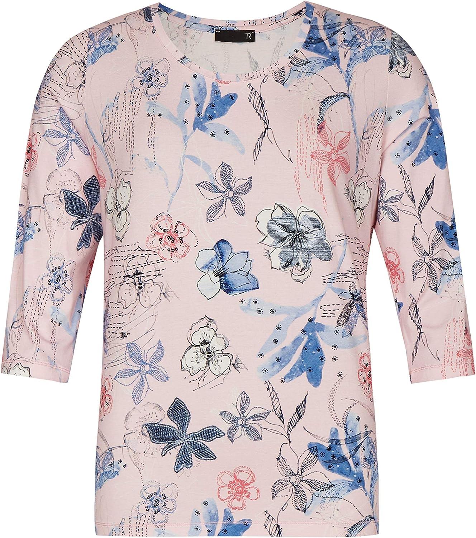 Thomas Rabe Damen Shirt mit Allover-Blüten und 3 3 3 4-Arm B07NC3HBWZ  Bezaubernde neue Welt 6d0ecf