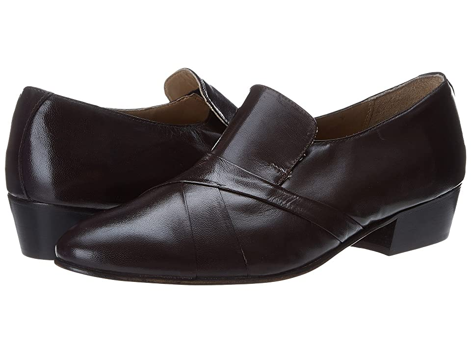 Mens Vintage Style Shoes| Retro Classic Shoes Giorgio Brutini - Bernard Brown Kidskin Mens Slip-on Dress Shoes $59.00 AT vintagedancer.com