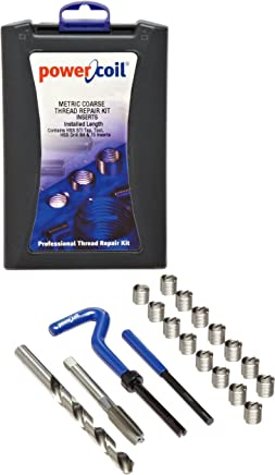 Pack of 10 304 Stainless Steel M10-1.5 Thread Size 15 mm Installed Length E-Z Lok EK40915 Metric Helical Threaded Insert Kit