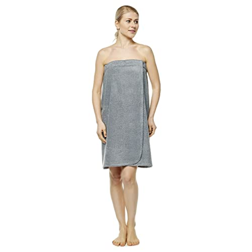 L//XL 100/% Turkish Organic Terry Cotton Lilac Arus Womens Towel Wrap