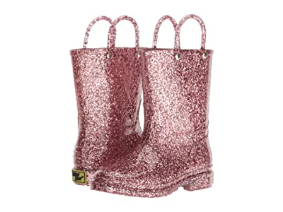 Western Chief Kids Glitter Rain Boots (Toddler/Little Kid) (Rose Gold) Girls Shoes