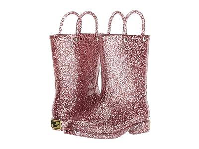 Western Chief Kids Glitter Rain Boots (Toddler/Little Kid) (Rose Gold) Girls Shoes