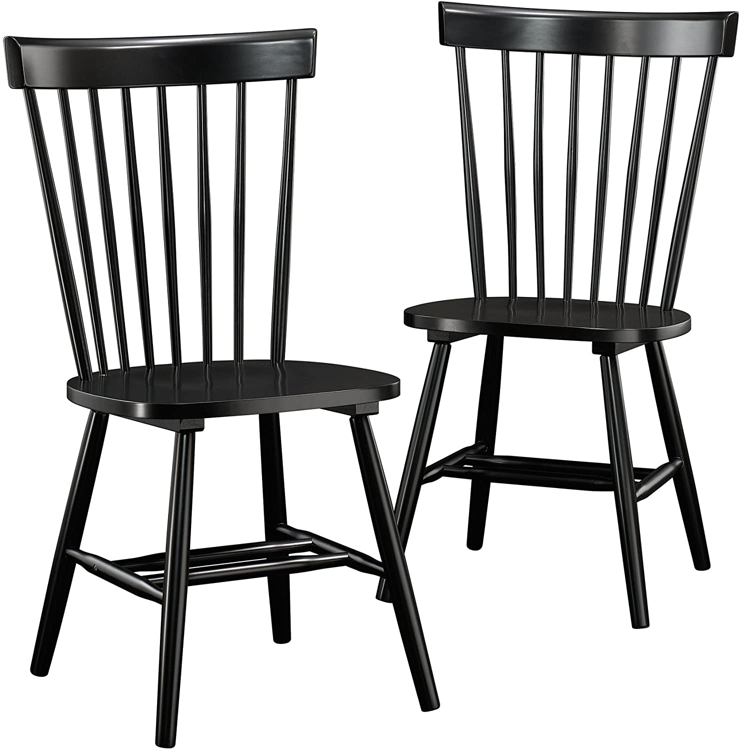Best for lumbar support:Sauder New Grange Spindle Back Chairs.