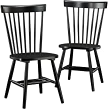 Sauder New Grange Spindle Back Chairs, Black finish