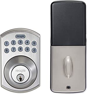 Reagle Smart Deadbolt Lock, Works with Apple HomeKit, iOS and Android - Satin Nickel