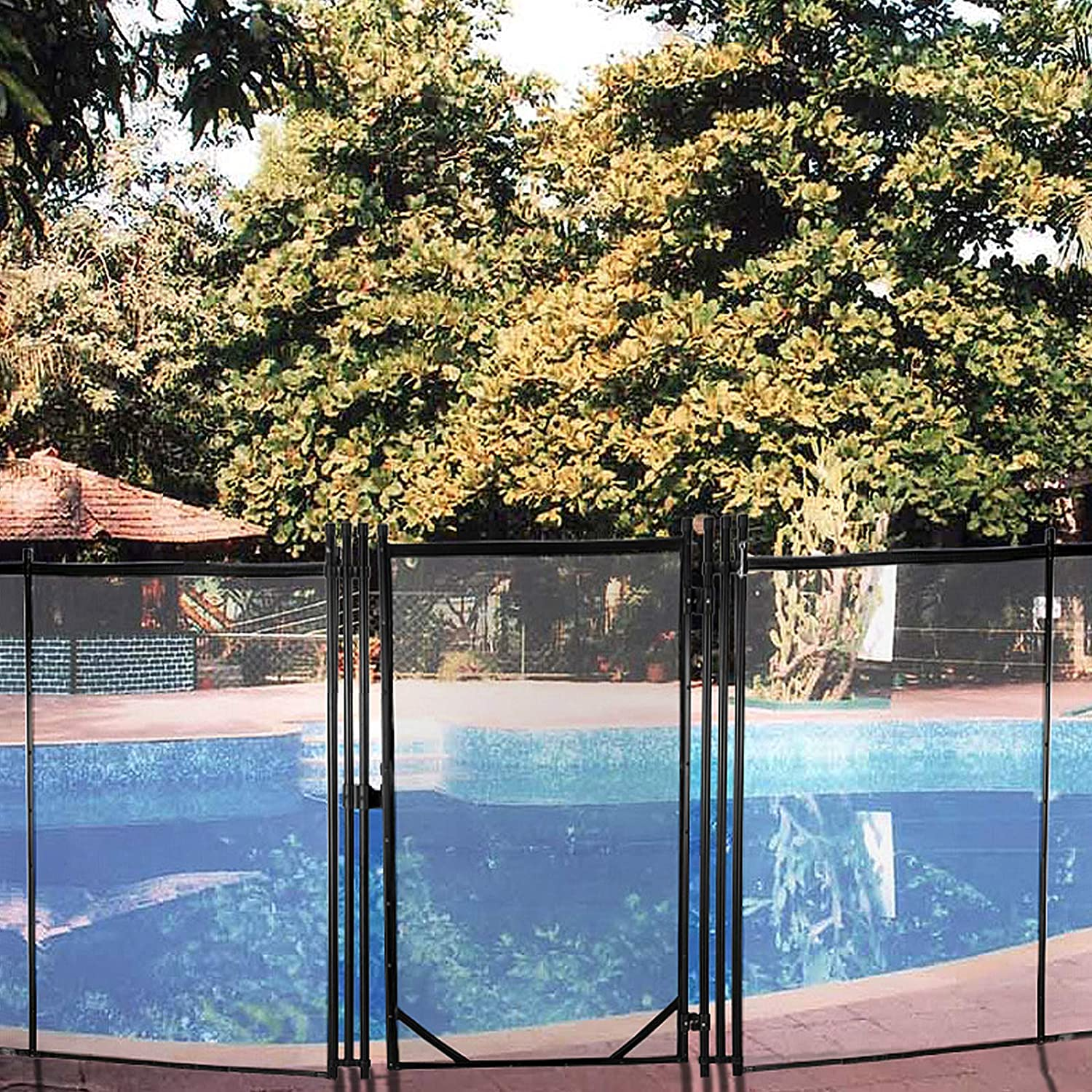 Happybuy Removable Pool Fresno Mall Safety Fence Manual Lock 4x2.5FT Max 66% OFF Door