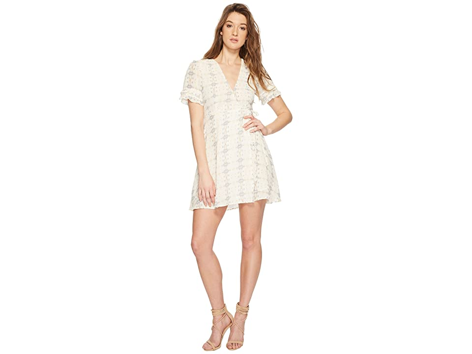 ASTR the Label Willa Dress (Cream/Sky Multi) Women