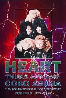 Heart COBO Arena Concert Poster 19