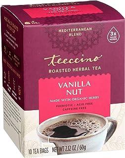 Teeccino Herbal Tea – Vanilla Nut – Rich & Roasted Herbal Tea That's Caffeine Free & Prebiotic for Natural Energy, 10 Tea ...