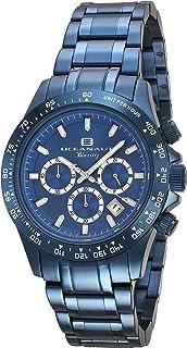 ساعة اوشينت بياريتز للرجال انالوج كوارتز مع سوار من الستانليس ستيل، أزرق، 20 (OC6117)