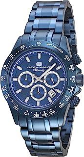 Oceanaut Men's Biarritz Analog-Quartz Watch with Stainless-Steel Strap, Blue, 20 (Model: OC6117)