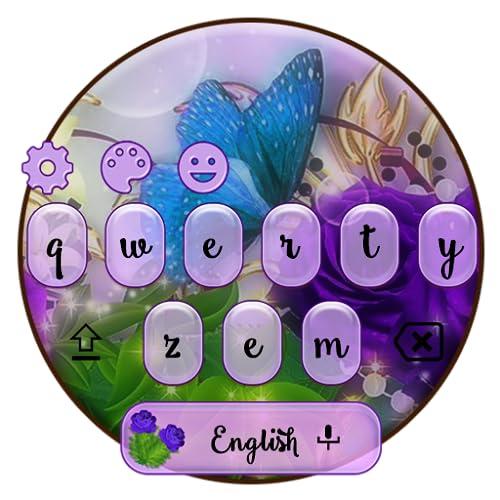 Beautiful Violet Flower Keyboard Theme