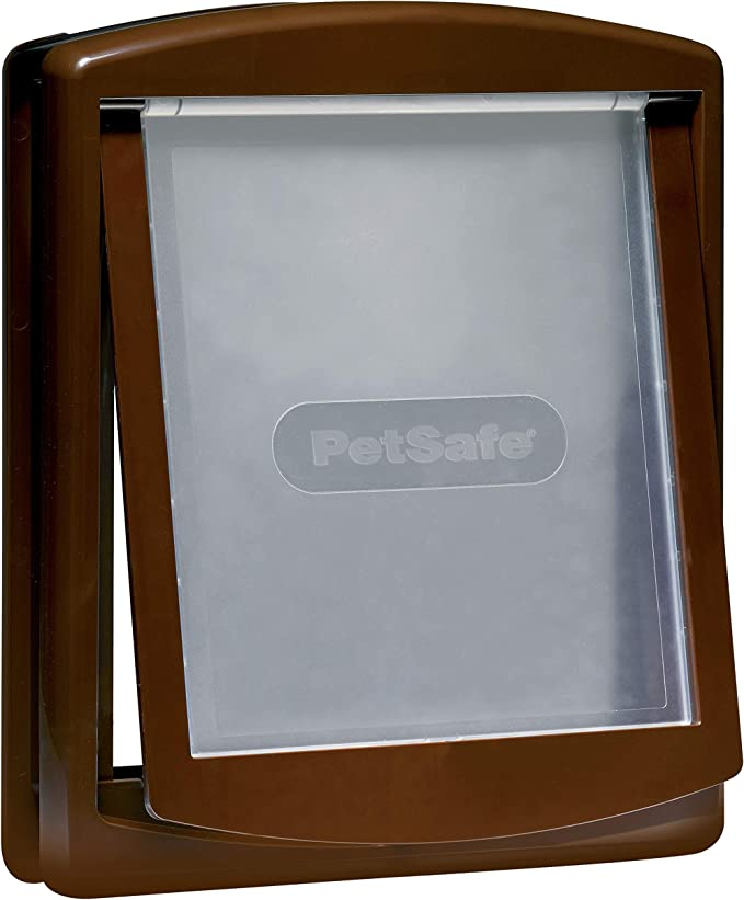 PetSafe Staywell, Convenient, Original 2 Way Pet Door, Fast Installation, Easy Fitting, 2 Way Locking, Cat Flap for All Pets – Brown - Large