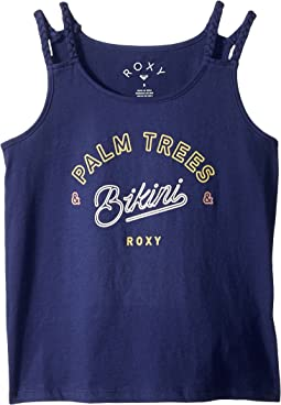 Roxy Kids - Uphill Ride Palm Tree Bikini Tank Top (Big Kids)