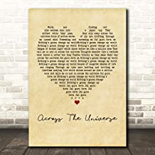 Across The Universe Vintage Heart Quote Song Lyric Wall Art Gift Print