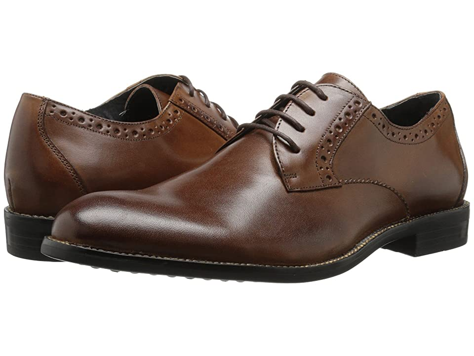 Stacy Adams Graham Plain Toe Oxford (Cognac) Men