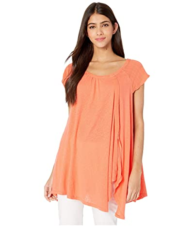 Free People Keep It Casual Tee (Coral) Women