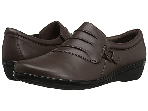 Clarks Everlay Heidi Dark Brown Leather Sale Discount Free Shipping Factory Outlet Z8Z0hN7ah