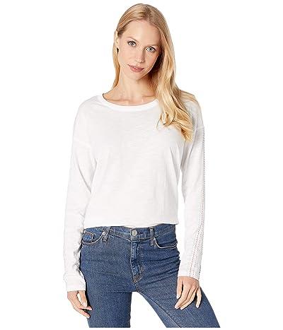 Splendid Long Sleeve PJ Top w/ Multi Stitching (Bright White) Women